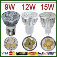 Wholesale Dimmable LED Spotlight Bulbs W W W E27 GU10 V Cool Warm White Energy saving High Power Cree Super Bright LED Lamp Lighting