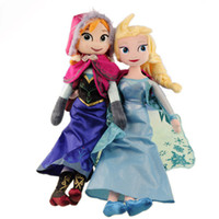 Wholesale Girls Toys elsa anna toy doll action figures plush toy Classic Toys For Girls Gifts via EMS