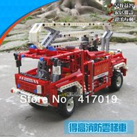 Cheap Free Shipping DECOOL 3323 LARGE 1036Pcs Exploiture Fire Engine Truck Plastic building blocks sets educational children toys