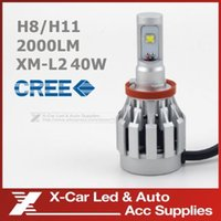 Wholesale 2Pcs Newest CREE LED H8 H11 Single Beam W LM K Bright White Bulb Fog Headlamp Conversion Kit With Fan