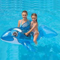 ride on toys - Baby Large Whale Float Inflatable Swimming Pool Toy Rider Ride On Seat Support