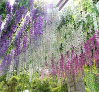 artificial vines - 110cm Simulation Flower Artificial silk flower wisteria vine for wedding home decoration