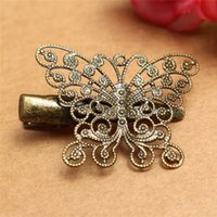 Wholesale New Hot Sale Metal Assorted Vintage Hair Clips Hairpins Butterfly Dragonfly Flower Feather Fashion Accessory For Women