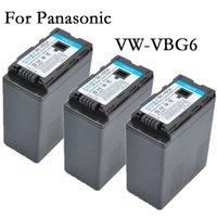 Wholesale 3pc VW VBG6 VBG6 rechargeable Battery Camera Batteries for Panasonic VW KBG1 K CGA E625 AG AC7 AG AC7GK AG AC120 AG AC120EN