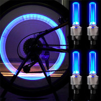 bicycle motor cars - Novelty Car Bike LED Flash Tyre Light Wheel Valve Stem Cap Lamp Motor bicycle Wheel Light colours