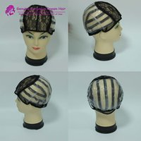 Wholesale 5pcs Small Medium Large machine made wig caps for making wigs with Strap On the Back
