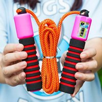 Wholesale Examination C01 electronic counting skipping rope striped pattern Dance students skipping diet fitness