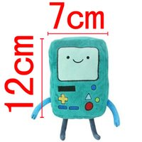adventure boy game - Adventure Time with Finn and Jake Plush BMO Beemo Game Boy Soft Stuffed toy embroidered BMO both sides Cute Green Doll hot sale