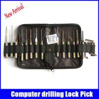 auto drill machine - locksmith tools Computer drilling machine lock pick set professional locksmith supplies with bag New arrival hot sale