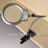 Wholesale New LED Light X X Magnifying Magnifier Loupe Table Desk Lamp Glass with Clamp X107MM X22MM order lt no track
