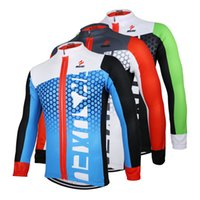 Wholesale ARSUXEO Men Cycling Jersey Bike Bicycle Long Sleeves Mountaion Clothing Shirts ZLJ21 Q