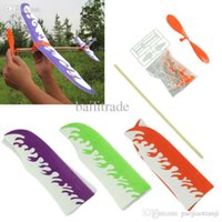 aircraft marketing - Hot Marketing New DIY Airplane Model Aircraft Model Powered by Rubber Band Children Toys May7