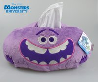 Wholesale ART quot Tissue Box Cover Holder bathroom bedroom Decor Monster University PURPLE