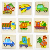 Wholesale Baby D Wooden Puzzles Educational Toys Funny Toy Colorful Animal Puzzle Game Good for Kids Gifts