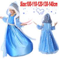 Wholesale Frozen Elsa Anna Christmas Suits Baby Suits Dress Cloak Suits Kids Long Sleeved Hooded Gauze Princess Suit Children Gift Suits FS GD1