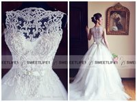 A-Line aire wedding dress - Elegant Lace Wedding Dresses Sweetheart Neck Detachable Straps A Line Bridal Gowns Zipper Back with Chapel Train Aire Vintage Gowns