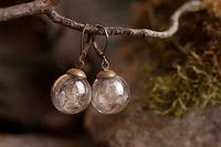 balls seeds - 3Pairs16MM Glass Ball Dandelion seed Earring Orb Dandelion Seeds Earrings