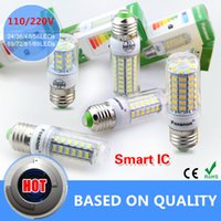 Wholesale E27 Led Lamps V W W W W W LED Lights Corn Led Bulb Christmas Chandelier Candle Lighting