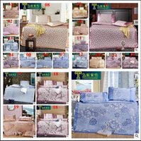 Wholesale 2015 high grade printed D color bed sheet ice silk mats pillow mat sleeping rest mats folded air condition mats TOPB2998 set