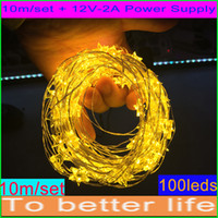 Wholesale LED Copper Wire String White Yellow Pentagram M LEDs Led String Mini LED Fairy Light Christmas Home Party Decoration Light