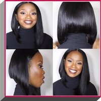 auburn hair cuts - Hot Selling Brazilian A Bob Cut Wigs Human Hair Bob Full Lace Wig For Black Women Full Short Bob Full Lace Wig