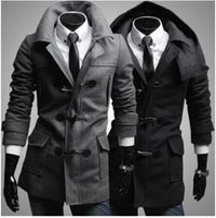 Wholesale Winter Men S Long Trench Coat Male Overcoat Sobretudo Masculino For Men Windbreakers Casaco Cloak Bunker Jacket Homme Ceket Free Shippi