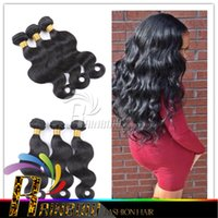 best hair colours - Brazilian Virgin Hair body wave Human Hair Weave best selling natural colour wavy hair extension mixed lengths inch