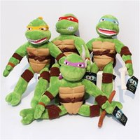 Wholesale Stuffed Green Turtle - 40pcs Anime Cartoon TMNT Teenage Mutant Ninja Turtles Plush toy Plush Toys Soft Stuffed Dolls 40CM EMS