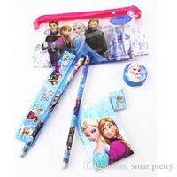 Wholesale Frozen Despicable Me Minions Spiderman Baymax Mickey Sofia Princess Pencil Cases Stationery Set For School Students Kids Pencils Pencil Bags