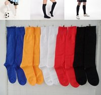 Wholesale Solid Color Football Hosiery High Elastic Knitted Cotton Sports Stocking Soccer Sock EBX