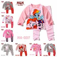 Wholesale NEW my little pony cat cartoon kids pajama sets children sleepwear boys nightwear girls family christmas pajamas toddler baby homewear