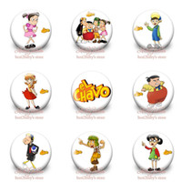 Wholesale Hot set styles EL Chavo brooch badge cm Cartoon buttons pins badges badge button gifts kids collection gifts toys