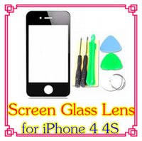 Wholesale DHL X replacement Outer Screen Glass Lens for iPhone S G GSM AT T Verizon black White DD12