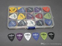 Wholesale 100pcs Acoustic Electric Bass Guitar Picks Plectrums Grid Case Various thickness mm