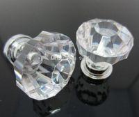 door hardware - Fashion Hot Clear Crystal Knob Cabinet Pull Handle Drawer Kitchen Door Wardrobe Hardware