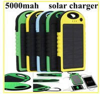 solar flashlight - 100pcs mAh Solar Charger and Battery Solar Panel portable power bank for Cell phone Laptop Camera MP4 With Flashlight waterproof shockpr