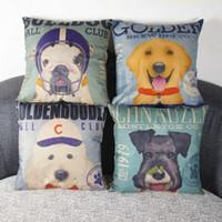 Polyest love chair - Cartoon Dog Sofa Cushion Linen Cotton Office Chair Cushion Including Pillow Decorative Throw Pillow LOVE Pattern x18inch Patterns