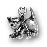 adorable kittens - New Fashion Easy to diy adorable playful kitten animal charm jewelry making fit for necklace or bracelet