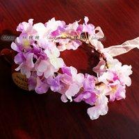 Wholesale silk flower wreath wedding hair jewelry headband b party beach wreath headwear Photography props
