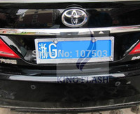 Wholesale 2014 Hot Sales Car License Plate Frame Stick drill shine Crystal Rhinestone Steel SD