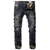 Wholesale 2015 New Arrival Men s jeans Leisure Casual western jeans Newly Style fashion jeans desigher jeans slim straight fit pants men