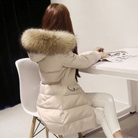 Wholesale women Down Parkas winter warm outerwear clothes women long design real natural Raccoon fur collar coat Hooded Duck Down jacket