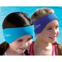aqua ear bands - Color Neoprene kids Adults swimming ear band ear holder protector aqua ear bands Velcro customized head band belt Imprint