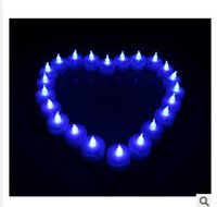 electronic candle - LED Electronic blue colors Candle Light Halloween pumpkins simulation for romantic wedding birthday candle wedding gift C878
