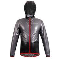 Vente en gros-Nouveaux Top Hommes Vêtements de sport en plein air ThinLightweight Imperméable à l'eau Imperméable Running Randonnée Bicyclette Vélo Veste de vélo Jersey Rain