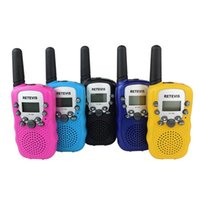 uhf radio portable - 2PCS Top Quality Retevis RT Children Toy Walkie Talkie With Light UHF CH LCD Display Flashlight VOX Portable Two Way Radio A7027