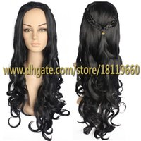 Wholesale High quality Fashion Women s Cosplay Wig Inspired by Daenerys Targaryen Dragon Princess Game of Thrones Braids Costume Wigs Synthetic HOT