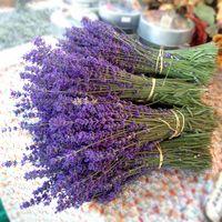 dried flowers - 300pcs Natural Dried lavender French Lavender Bouquet Blossoms Flowers for Wedding decoration Length cm