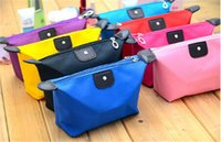 Wholesale HOT sale designs women Cosmetic Bags candy Cute Women Lady Travel Makeup Bags Casual Purses Dumpling type wallet D443