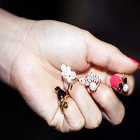 Cheap New Fashion Punk Finger Knuckle Rings women midi ring 4pcs set different Design new brand designer jewelry